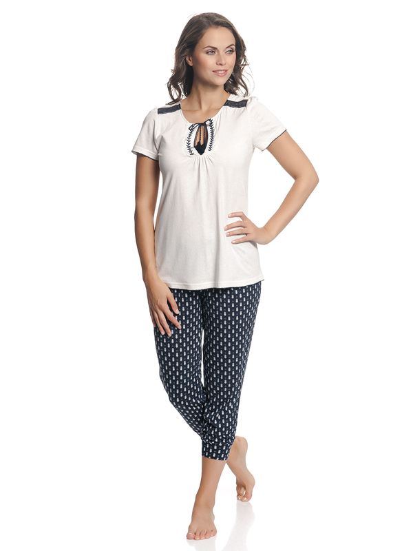 Vive Maria Dreaming Sailor Pyjama Creme/Navy Allover – Bild 2