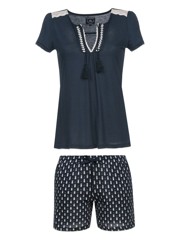 VIVE MARIA Dreaming Sailor Damen Kurz Pyjama Navy Allover Ansicht
