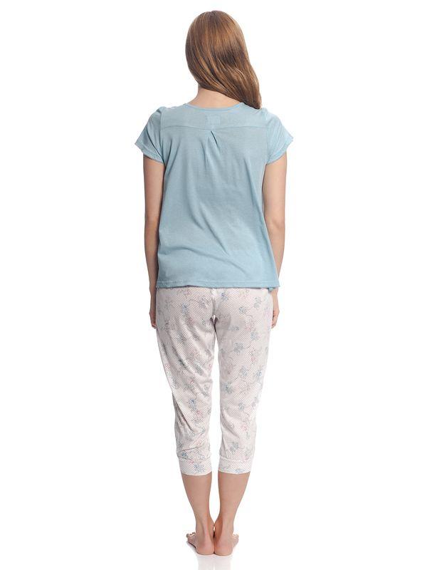 Vive Maria Retro Flower Pyjama Blue/ White Allover – Bild 4