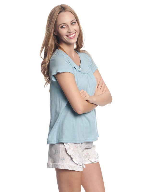 Vive Maria Blue Babydoll Pyjama Blau/Weiß Allover – Bild 3