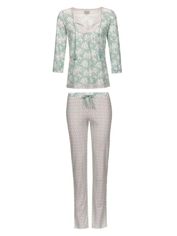 Vive Maria Charming Rose Pyjama Blue Allover / Cream Allover – Bild 1