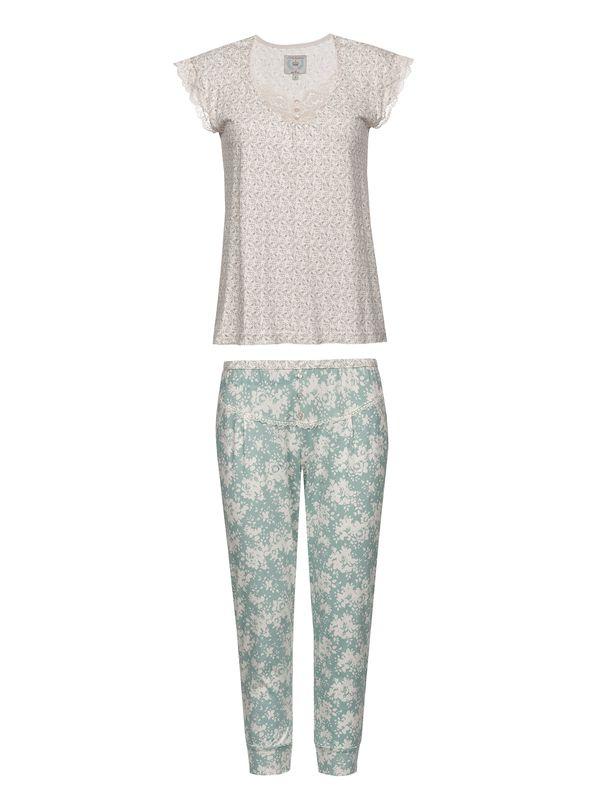 Vive Maria Charming Girl Pyjama Cream Allover/Blue Allover – Bild 1
