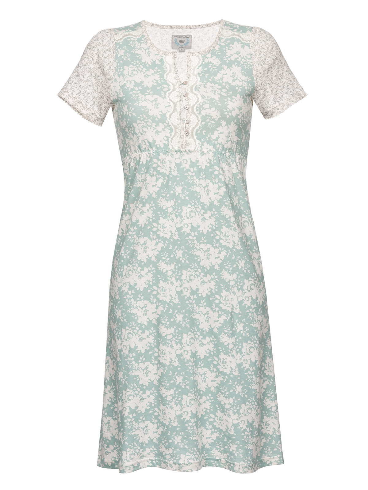 ab9108767b05c1 Vive Maria Charming Rose Nightdress Blue Allover/ Cream Allover | Napo  Webshop