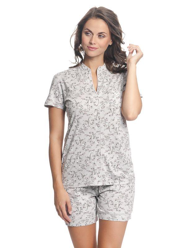 Vive Maria Cherry Blossom Kurz Pyjama Grau Allover – Bild 2