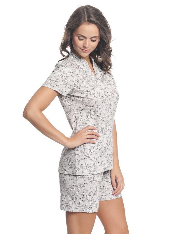 Vive Maria Cherry Blossom Kurz Pyjama Grau Allover – Bild 3