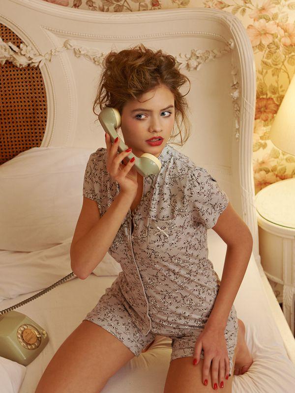 Vive Maria Cherry Blossom Kurz Pyjama Grau Allover – Bild 5
