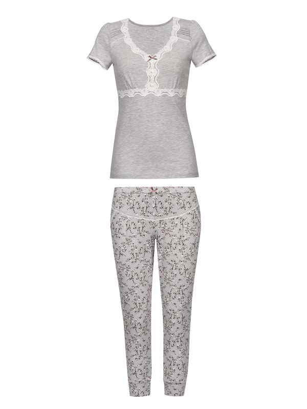 VIVE MARIA Cherry Dream Pyjama Grau Melange / Grau Allover – Bild 1
