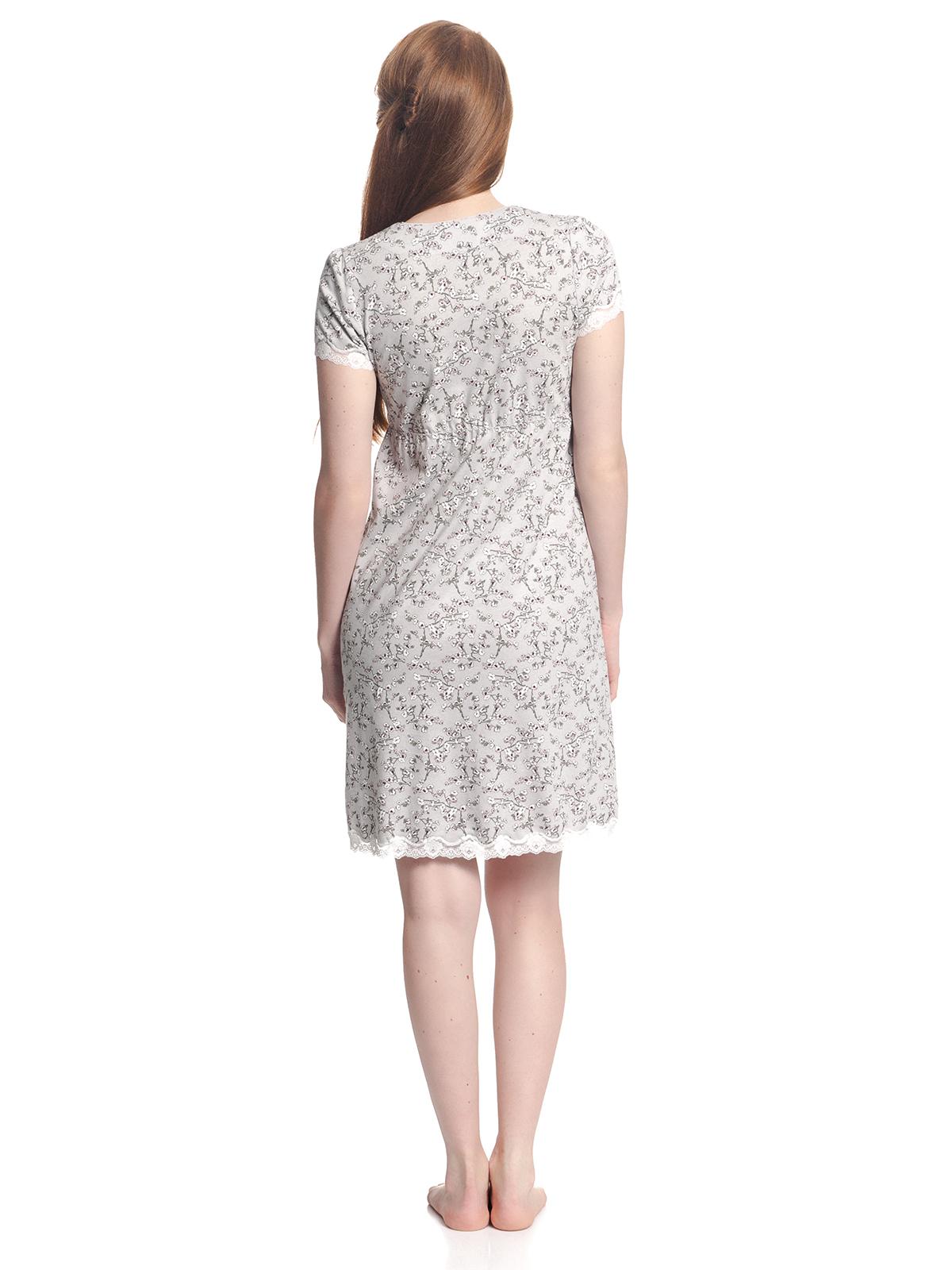 best website 86589 aeecb Vive Maria Cherry Blossom Damen Nachthemd Grau Allover