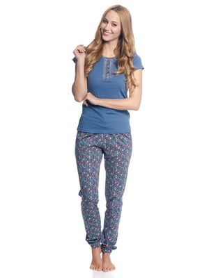 VIVE MARIA French Flower Pyjama Blau/ Blau Allover – Bild 1
