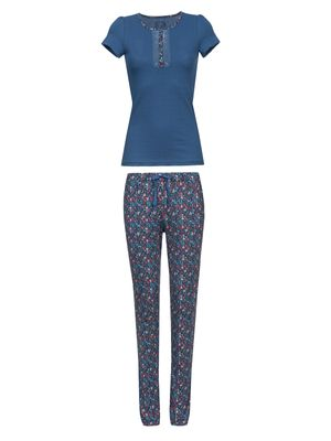 VIVE MARIA French Flower Pyjama Blau/ Blau Allover – Bild 0