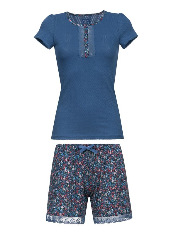 VIVE MARIA French Flower Short Pyjama Blue/Blue Allover – Bild 1