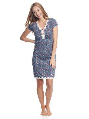 Vive Maria Flower Girl Nachthemd Blau/ Blau Allover – Bild 1