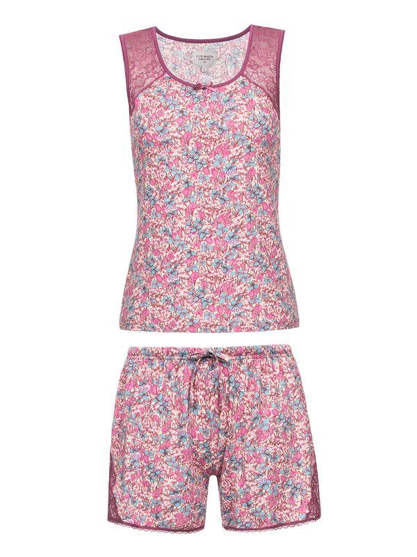 Vive Maria Lollipop Kurz Pyjama Pink allover – Bild 1