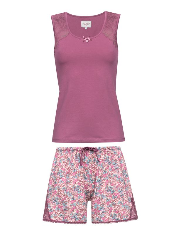 Vive Maria Lollipop Girl Kurz Pyjama Pink allover – Bild 1