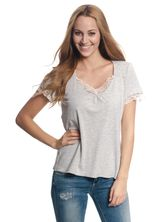 Vive Maria Basic Lace Shirt gray-mel. – Bild 0