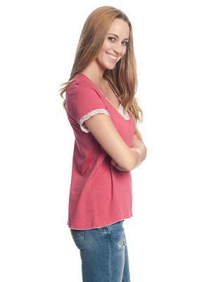 Vive Maria Basic Lace Shirt berry – Bild 1