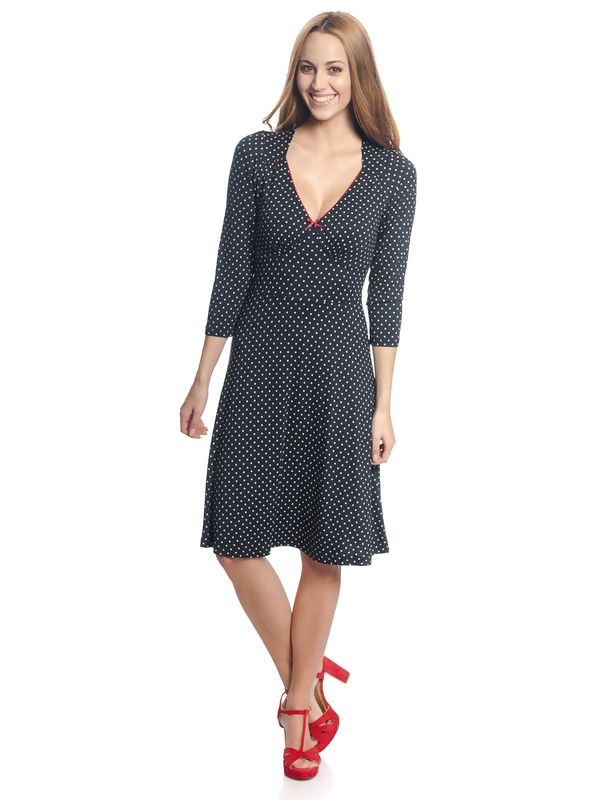 Vive Maria Lucky Girl Dress navy allover – Bild 1