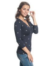 Vive Maria Ahoi Girl Shirt navy allover – Bild 2
