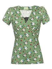 Vive Maria Sweet Memories Shirt green allover – Bild 0