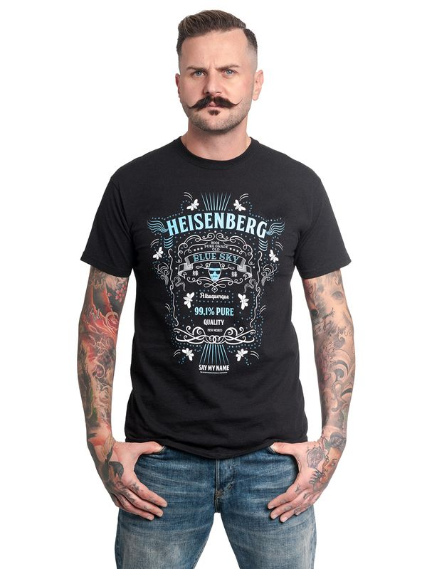 Breaking Bad Heisenberg Old Blue Sky Tee for Men Black – Bild 2