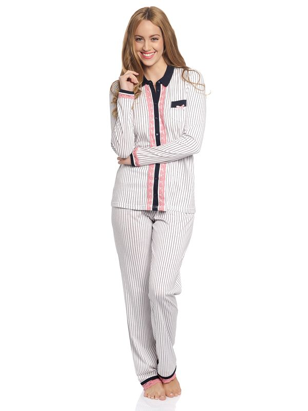 Vive Maria Strawberry Kiss Long Pyjama creme – Bild 1