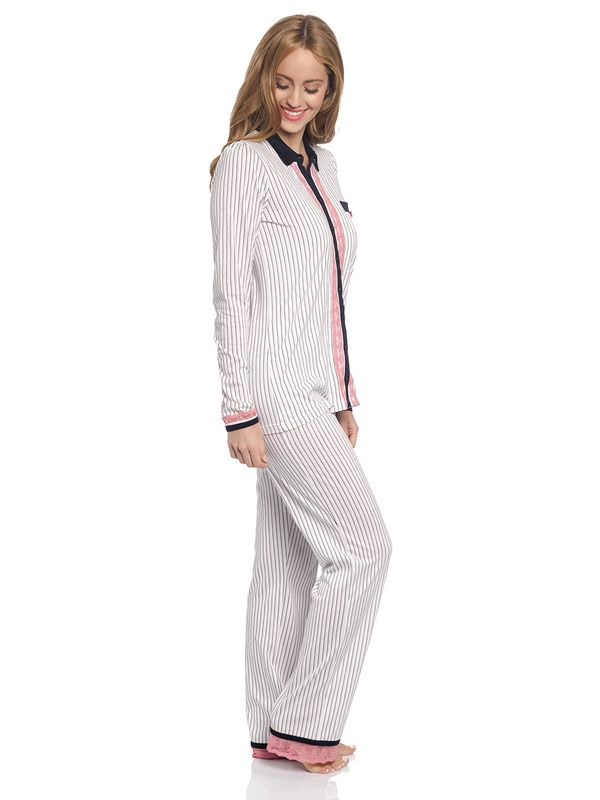 Vive Maria Strawberry Kiss Long Pyjama creme – Bild 2