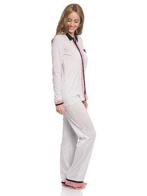 Vive Maria Strawberry Kiss Long Pyjama creme – Bild 1