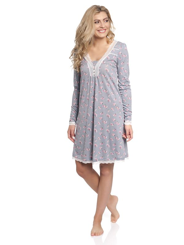 Vive Maria Flower Boudoir Nightdress gray allover – Bild 1