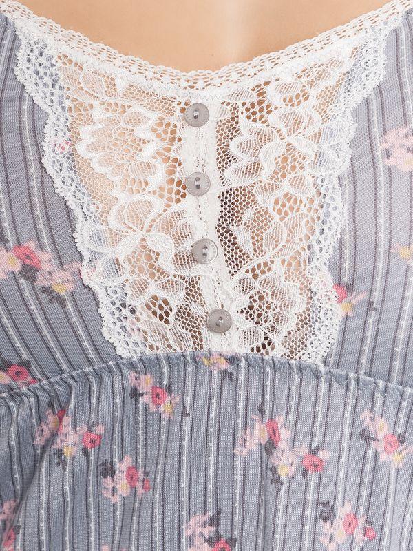 Vive Maria Flower Boudoir Negligée gray allover – Bild 4