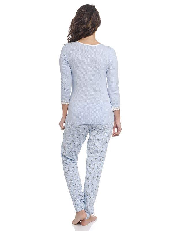 Vive Maria Katies Dream Long Pyjama hellblau – Bild 3