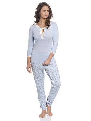 Vive Maria Katies Dream Long Pyjama hellblau – Bild 0