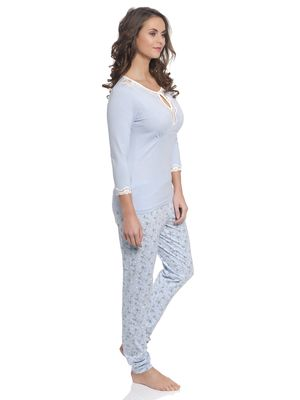 Vive Maria Katies Dream Long Pyjama hellblau – Bild 1