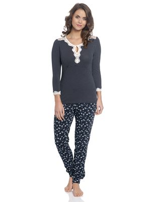Vive Maria Katies Dream Long Pyjama navy – Bild 0