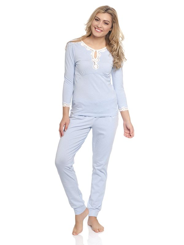 Vive Maria Dotty Pyjama Long lightblue – Bild 1