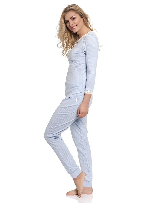 Vive Maria Dotty Pyjama Long lightblue – Bild 2
