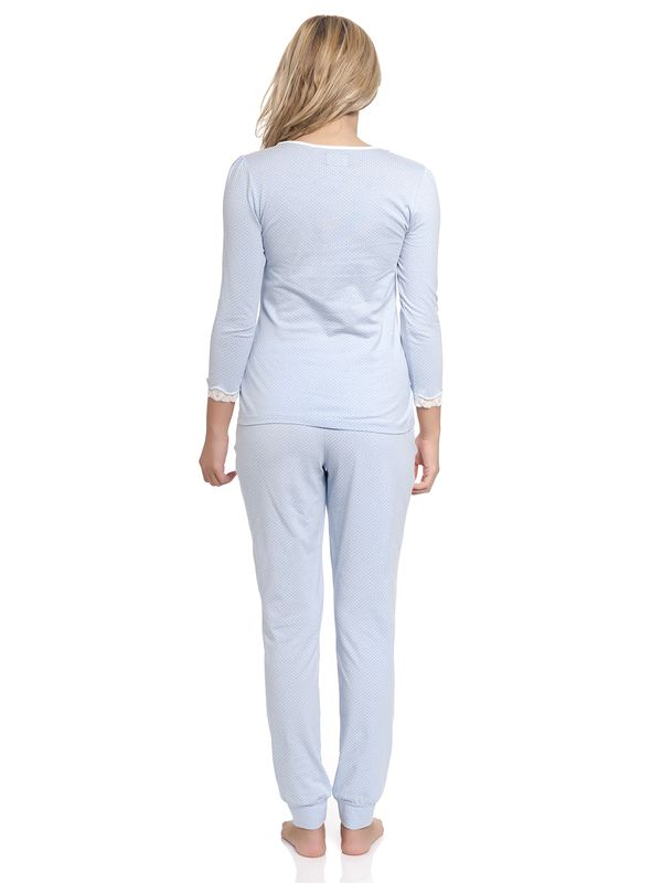 Vive Maria Dotty Pyjama Long lightblue – Bild 3