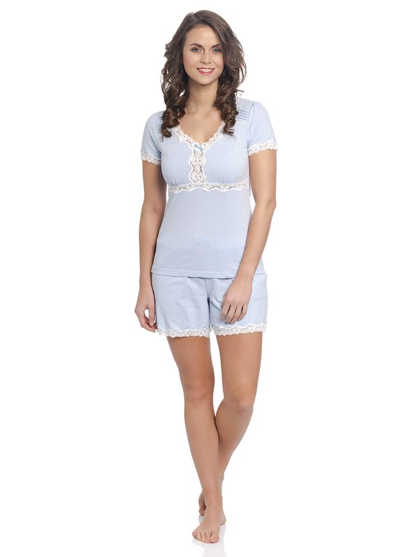 Vive Maria Dotty Pyjama Short hellblau – Bild 1