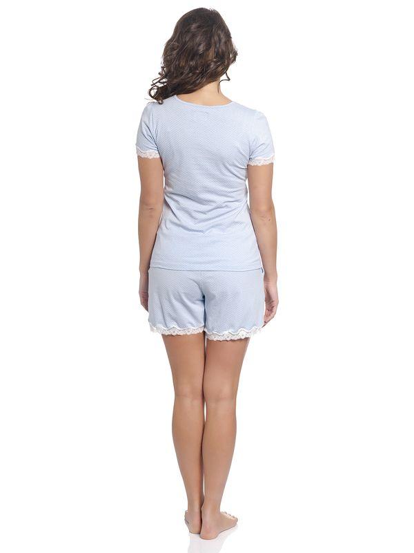 Vive Maria Dotty Pyjama Short hellblau – Bild 4