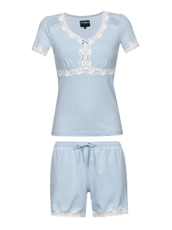 Vive Maria Dotty Pyjama Short lightblue – Bild 0