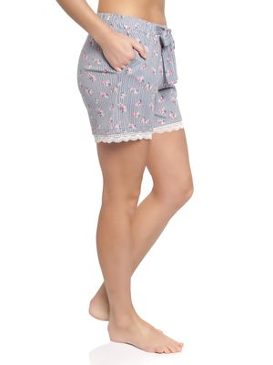 Vive Maria Flower Boudoir Single Shorts grau – Bild 1