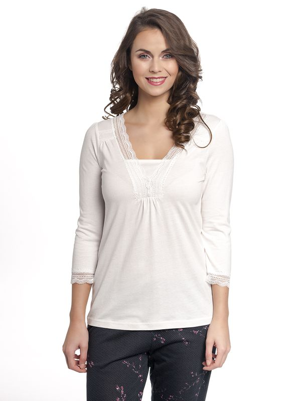 Vive Maria Dreaming Basic Single Shirt creme allover – Bild 1