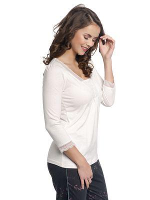 Vive Maria Dreaming Basic Single Shirt creme allover – Bild 1