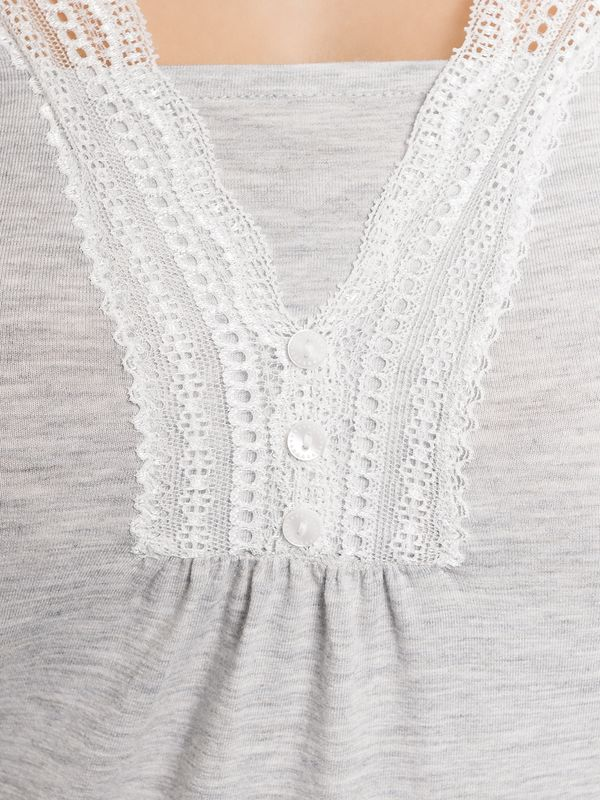 Vive Maria Dreaming Basic Single Shirt grau melange – Bild 5