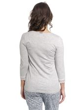 Vive Maria Dreaming Basic Single Shirt gray melange – Bild 3