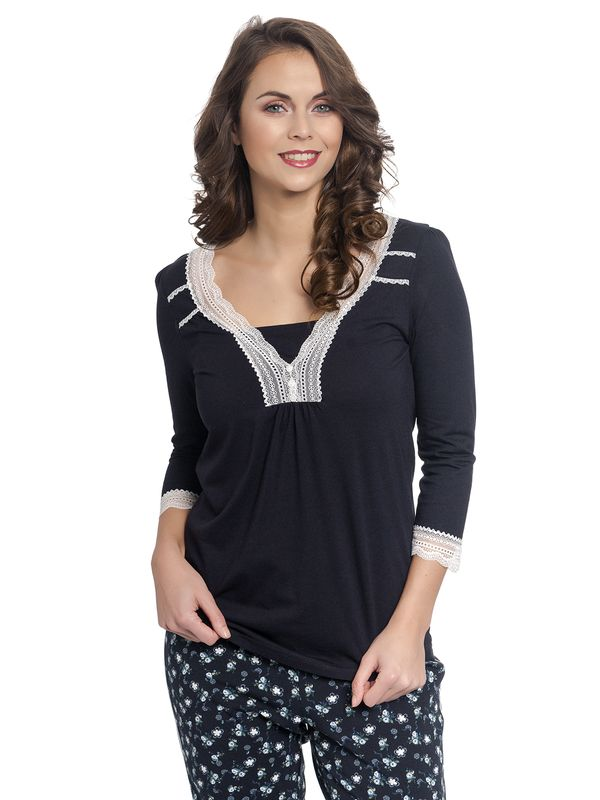 Vive Maria Dreaming Basic Single Shirt dark navy – Bild 1