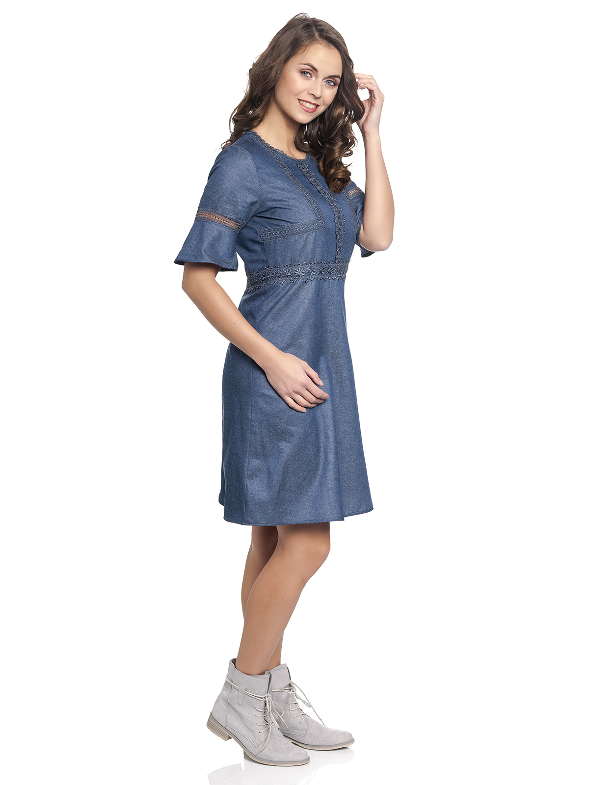 c6a0b292680c Vive Maria Victorian Denim Dress darkblue Clothing Dresses