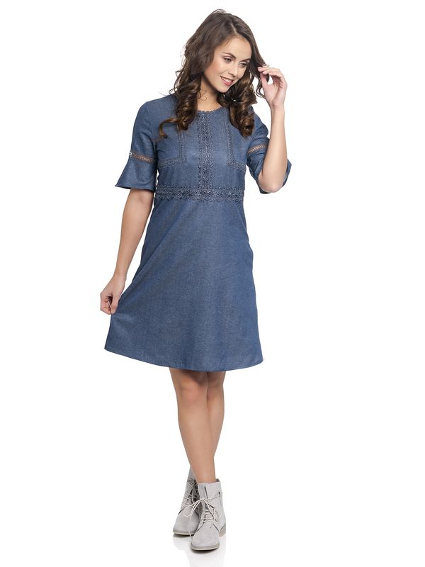 Vive Maria Victorian Denim Dress darkblue – Bild 1