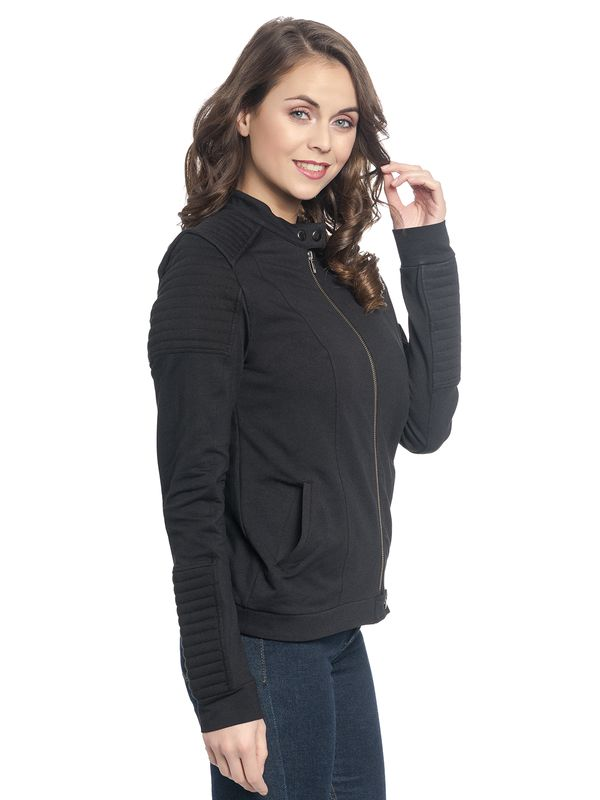 Vive Maria Damen Biker Sweat Jacket Black – Bild 2