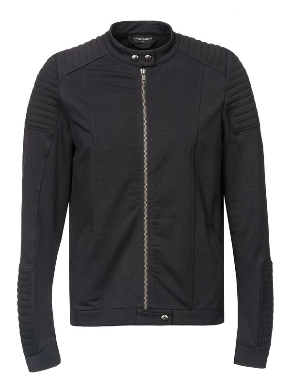 Vive Maria Damen Biker Sweat Jacket Black – Bild 0