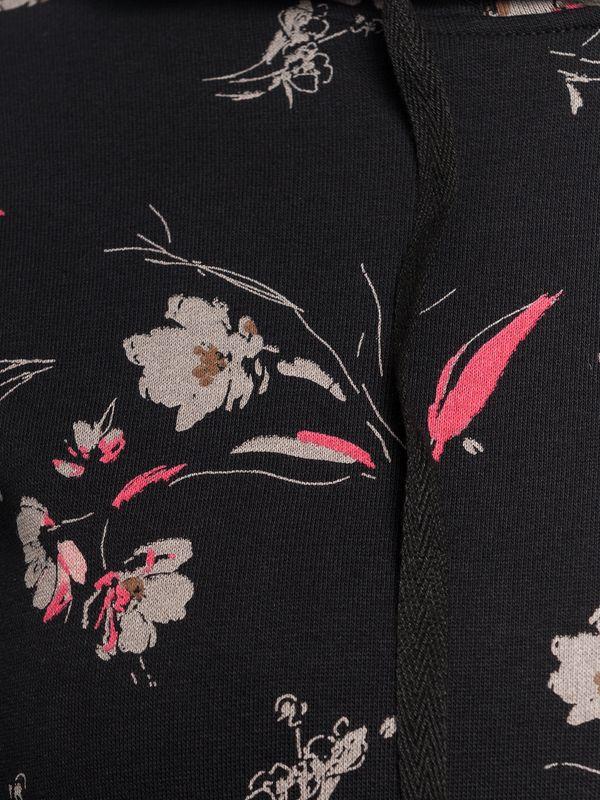 Vive Maria Cosy Flower Hoodie schwarz allover – Bild 4